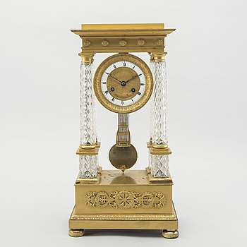 RAOUL LEFEVRE - MANTEL CLOCK, empire, 19th century first half / mid.