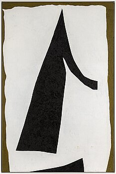 ADJA YUNKERS, acrylic and collage with black pigment on canvas, signed and dated 1970 on verso.