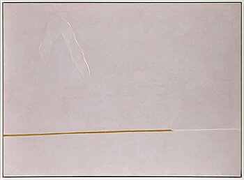 ADJA YUNKERS, acrylic/collage on canvas, signed and dated Oct, 1970 on verso.