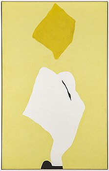 ADJA YUNKERS, acrylic on canvas, signed and dated 1968 on verso.