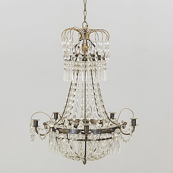 A 20th century Empirte style chandelier.