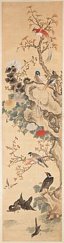 289. A Chinese hanging scroll, ink and colour on paper, 20th century, provenance Estrid Ericson.