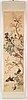 Rullmålning, tusch och färg på siden. kina, 1900-tal, proveniens estrid ericson.
