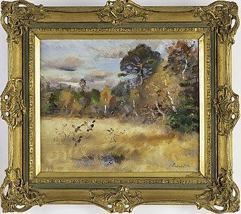 LINDORM LILJEFORS, oil on panel, signed Lindorm L and dated -52.