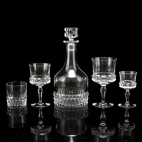 "A swedish orrefors glass service, ""silvia"", 20th century."