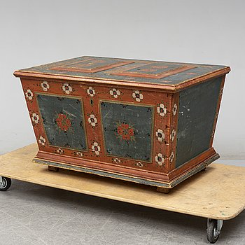 A Swedish chest, dated 1826.