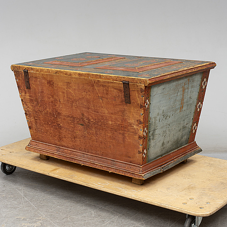A swedish chest, dated 1826