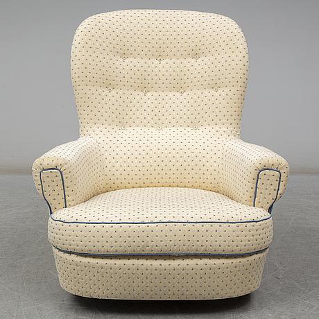 "A carl malmsten ""jättepaddan"" armchair, late 20th or early 21th century"