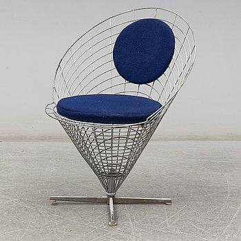 VERNER PANTON, a 'Wire Cone' chair, Denmark.