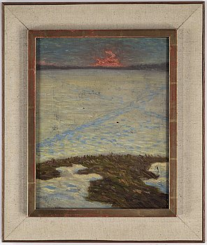 ERIK TRYGGELIN, oil on canvas laid down on masonite, signed E. Tryggelin and dated 10/4 1902.