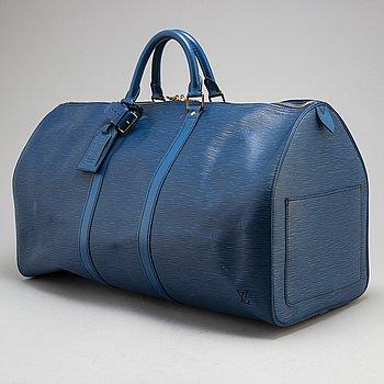 """LOUIS VUITTON,weekendbag  """"Keepall 55 Epi""""."""