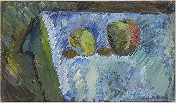 ALF LINDBERG, oil on canvas laid down on masonite, signed Alf Lindberg.