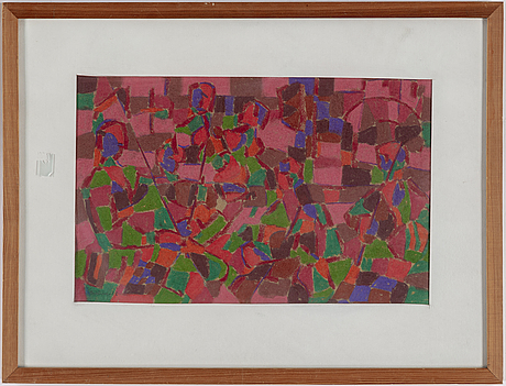 Harry boostrÖm, pastel, signed booström and dated  52