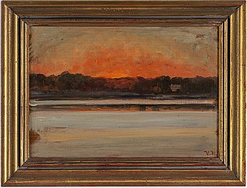 VILHELM HOLMGREN, oil on panel, signed V.H.