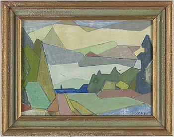 VILHELM BJERKE-PETERSEN, oil on panel, signed v.b.p.