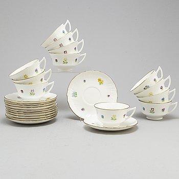 a set of 12 'Poem' teacups by Gustavsberg.
