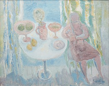 PIRKKO LEPISTÖ,oil on canvas, signed and dated -66.