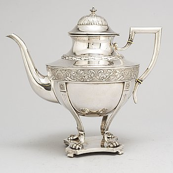 ANDERS NILSSON, a silver coffee pot from Lund, 1905.