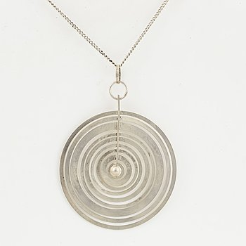 TAPIO WIRKKALA, pendant 'Silver moon', silver.