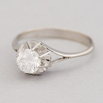 RING, briljantslipad diamant, 14K vitguld.