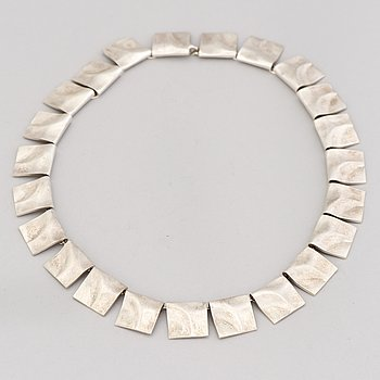 "A BJÖRN WECKSTRÖM NECKLACE, ""Galactic heights"", silver. Lapponia 1973."