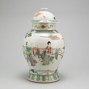 VAS MED LOCK, porslin, Kina, 1900-tal.