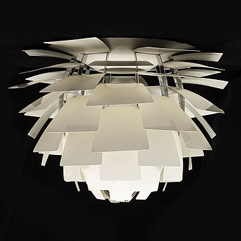 A 'PH Artichoke' ceiling light by Poul Henningsen for Louis Poulsen, Denmark, designed in 1958.
