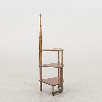 A Mahogany library ladder.
