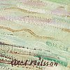 Axel nilsson, olja på duk, signerad