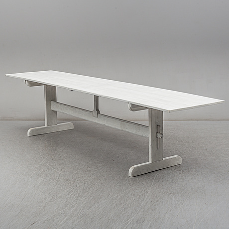 A swedish modern painted pine table