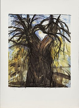 JIM DINE, offset, signed and numbered 18/400, dated 1985.