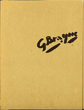 GEORGES BRAQUE, book, 1962 numbered 549/600.