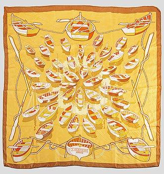 "HERMÈS scarf ""Flottille"" 1971 design P Peron."