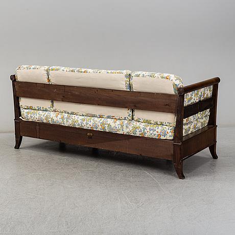 Carl malmsten, a mahogany sofa from nordiska kompaniet, 1924