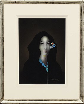 PAUL WUNDERLICH, inkbrush/watercolour, signed.