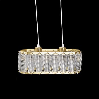WIKTOR BERNDT, a ceiling light from Swedish Crystal, 1950's/60's.