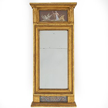 A late Gustavian mirror early 19th century.