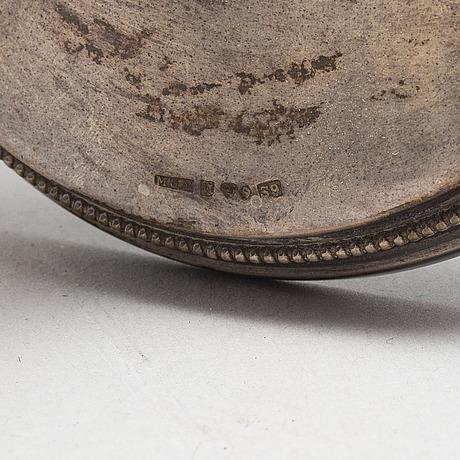 Ljusstakar, ett par, silver, kg markströms guldsmeds ab, uppsala, 1968, 386 gram