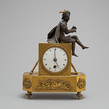 A French late Empire pendulum clock, first half of the 19th century.