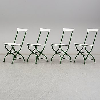 A set of mid 20th Century garden chairs.