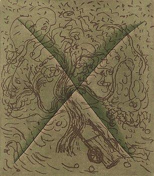 HANNU VÄISÄNEN, etching, aquatint, signed and dated -80.