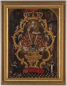 SYDAMERIKANSK KONSTNÄR, 1700-TAL, Cuscoskolan, olja på uppfodrad duk 88 x 67 cm.