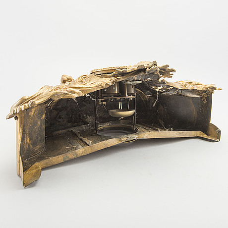 Bordspendyl, bronserad metall, 1800 talets senare del