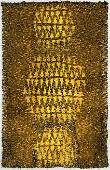 LAILA LEPPÄNEN, A Finnish long pile ryijy rug for Neovius oy. Circa 188x120 cm.