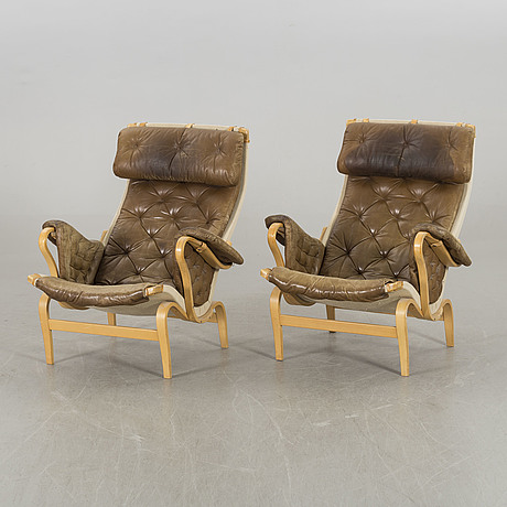 Bruno mathsson, a air of pernilla armchairs for dux later part of the 20th century.