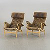 Bruno mathsson, a air of pernilla armchairs for dux later part of the 20th century