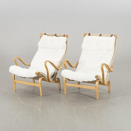 Bruno mathsson, a pair of pernilla, dux lounge chair