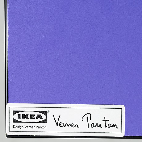 "Verner panton, a set of 4 ""vilbert"" chairs for ikea 1993-94."