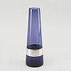 Saara hopea - vase, blue glass and silver, 1967.