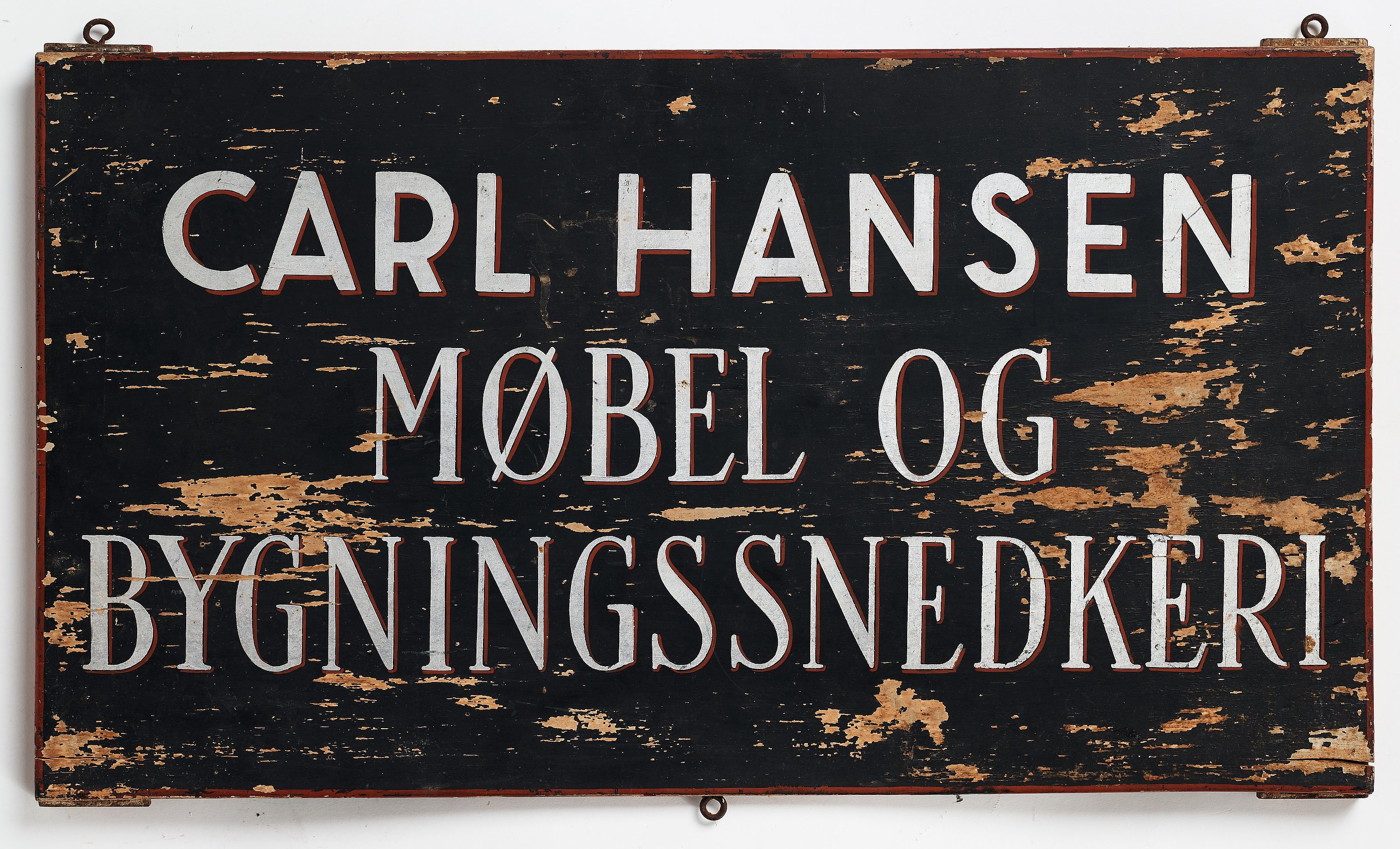 Carl Hansen & Søn, a factory sign, Denmark mid 20th century